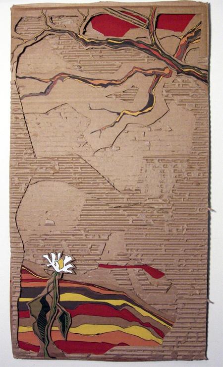 """Autumn"" - Acrylic on cardboard, 18""x24"""