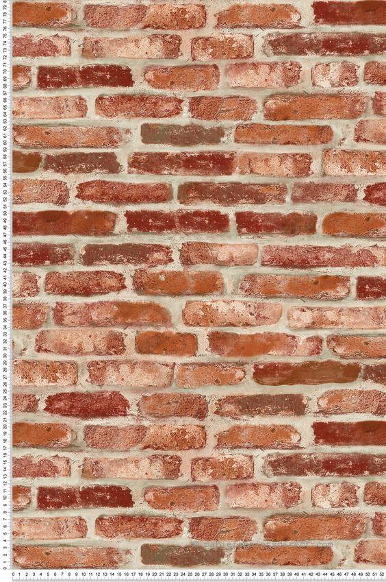 Brique rouge - Collection 3D Wall de Lutèce