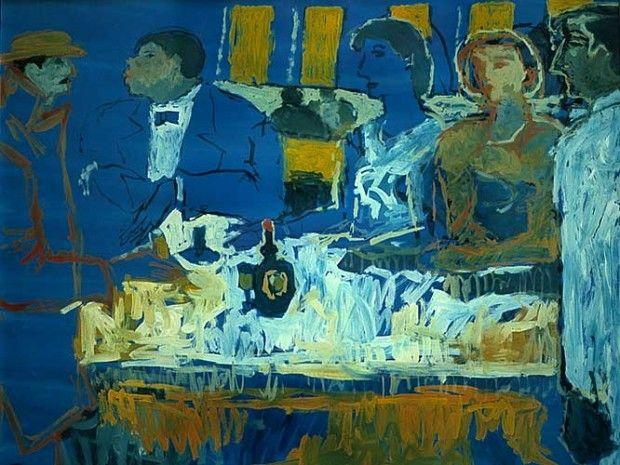 "Fikret Mualla ""Bistroda"" 1956"