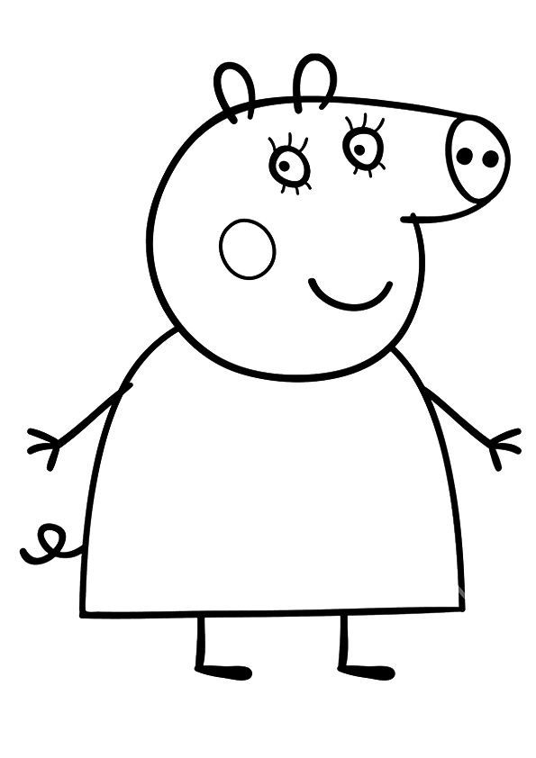 The Mummy Pig Peppa Pig Coloring Pages Peppa Pig Colouring Coloring Books