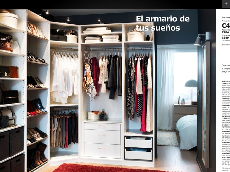 17 best images about distribuci n de armarios on pinterest - Organizar armario ikea ...