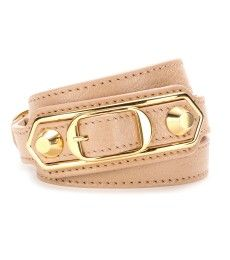 Balenciaga - Metallic Edge leather wrap bracelet  - mytheresa.com GmbH