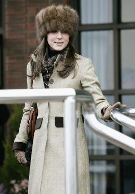 Kate Middleton rocking a fur hat.
