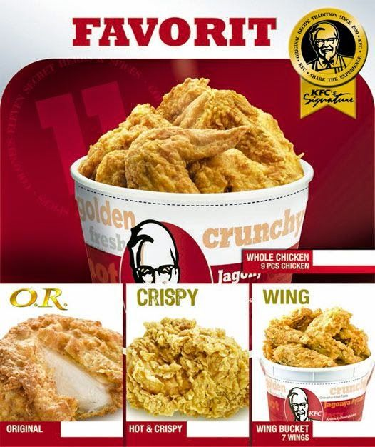 daftar harga menu KFC, harga menu KFC, menu KFC, kfc, daftar harga menu kfc terbaru 2014