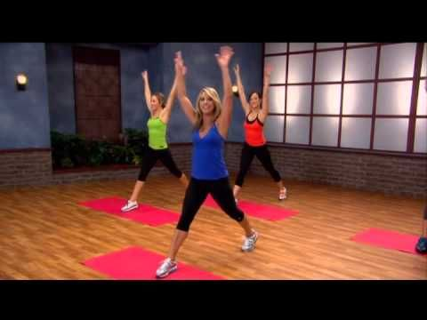 Denise Austin - 20 min video this is great for beginners or people just getting back into exercise it was very easy but great to use muscles you haven't used for ages it would be a great morning workout to wake up and get your muscles moving