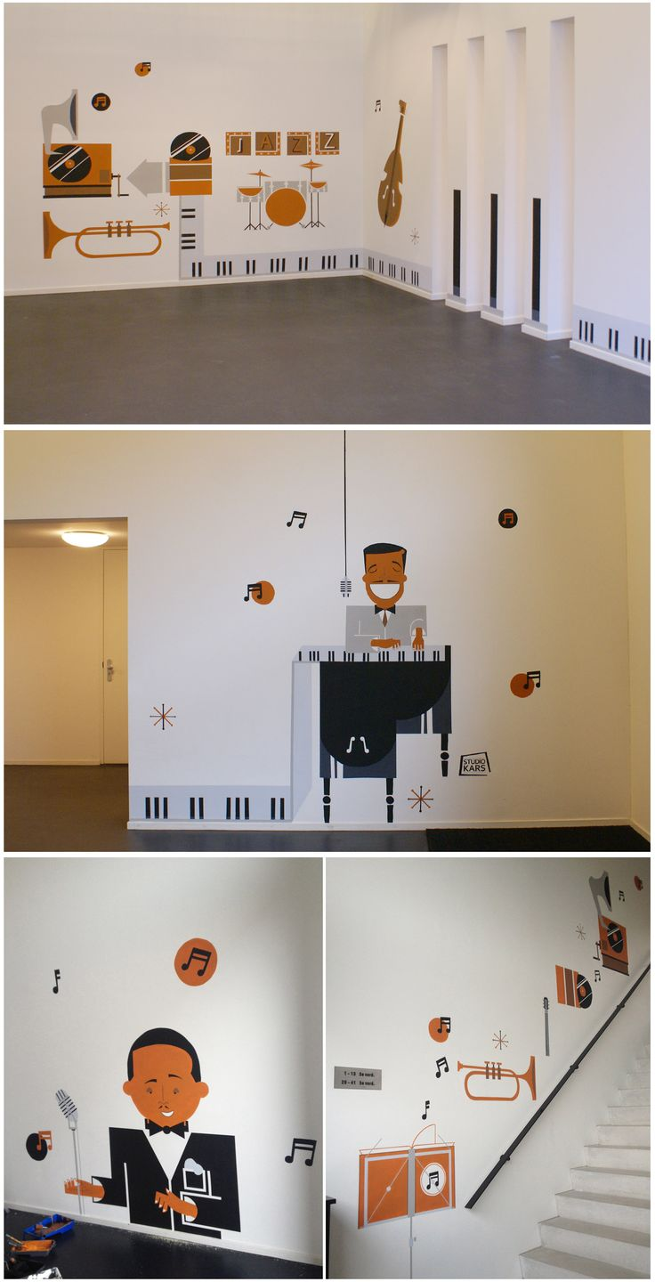 Wall painting De Golf - Made By: Studio Kars