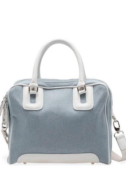 New Chic Light Blue Jean Handbag