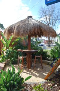 If you love the look and feel of a thatched roof outdoor gazebo, but don't want to pay alot for this type of Bali Hut, then the Umbrella Thatch is your best solution. The Umbrella Thatch creates a relaxed and tropical look and feel to your outdoor area and is a much cheaper alternative to the Bali Hut.