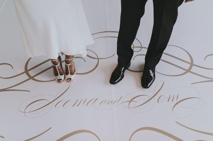 Wedding Stationery, Custom Designed Dance Floor Decal at The Four Seasons Toronto