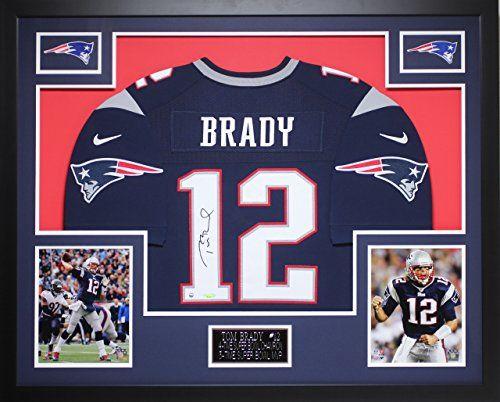 Tom Brady Autographed & Framed Navy Patriots Jersey Auto Tri Star Cert (Free Shipping!!)