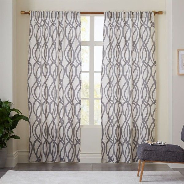 17 best ideas about gray curtains on pinterest window curtains living room window treatments. Black Bedroom Furniture Sets. Home Design Ideas