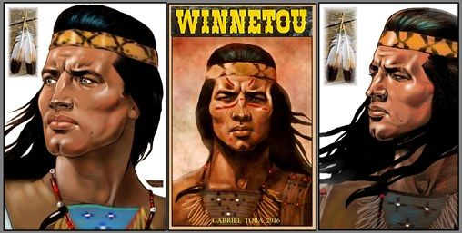 Winnetou Pierre Brice art 2016 tora gabriel new 1965