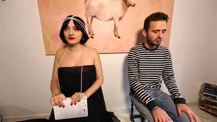 "Morodan speaking with Telespan about his book ""Cimitirul"""