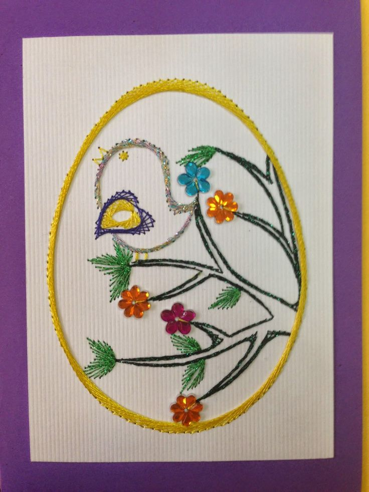 Images about embroidery on paper easter