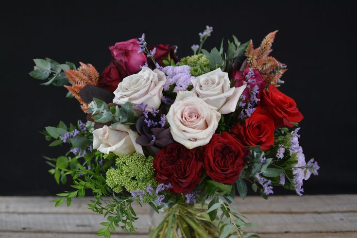 romantic rose mix for anniversary, birthday, valentines or just because