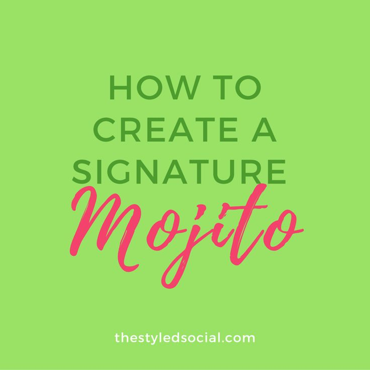 Summer wouldn't be the same without one of our favorites - the  Mojito!?!This week we're going to show you how to create a signature mojito  bar…