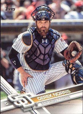 2017 Topps Series 1 Base Derek Norris #92 San Diego Padres
