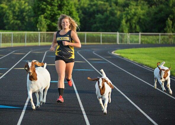 Goat senior pictures