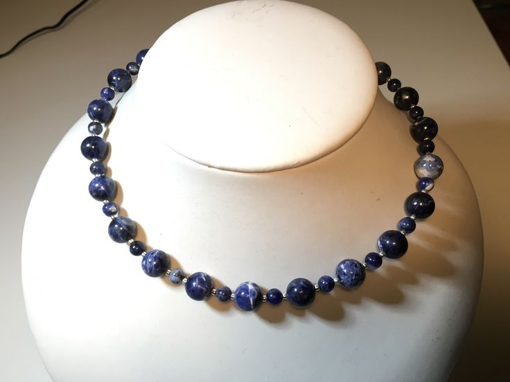 Sodalite Necklace & Earrings. Set selling for $40. manoncreativemoments@gmail.com