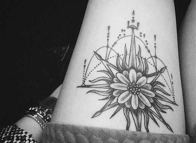 My tattoo, sun, flower, Life.