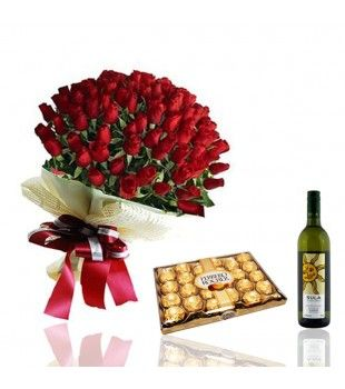 My #DiwaliSurprise - For my Husband-  I always wanted to show how much I love you, hope Flower & Wine Hamper will convey the message :D Happy Diwali My Love :)