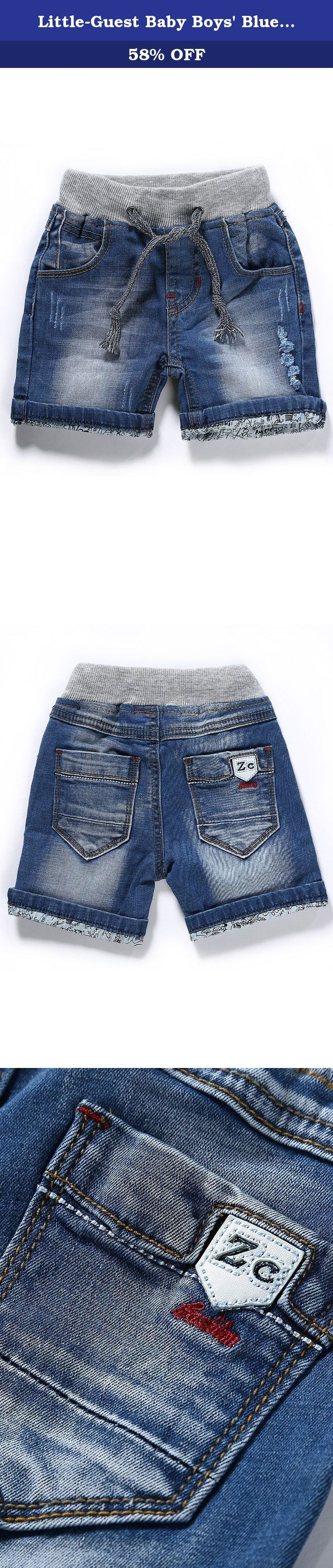 """Little-Guest Baby Boys' Blue Knee-Length Jeans Shorts B208 (9-12 Months, Light Blue). Pay attention to our Size Chart: 6-9 Months WAIST:48cm/18.7"""" HIP:54cm/21.1"""" BOTTOM:24cm/9.4"""" BODY LENGTH:24cm/9.4"""" 9-12 Months WAIST:50cm/19.5"""" HIP:56cm/21.8"""" BOTTOM:25cm/9.8"""" BODY LENGTH:25cm/9.8"""" 12-18 Months WAIST:53cm/20.7"""" HIP:59cm/23"""" BOTTOM:26.5cm/10.3"""" BODY LENGTH:26.5cm/10.3"""" 18-24 Months WAIST:54cm/21.1"""" HIP:60cm/23.4"""" BOTTOM:27cm/10.5"""" BODY LENGTH:27cm/10.5"""" 24-30 Months WAIST:56cm/21.8""""..."""