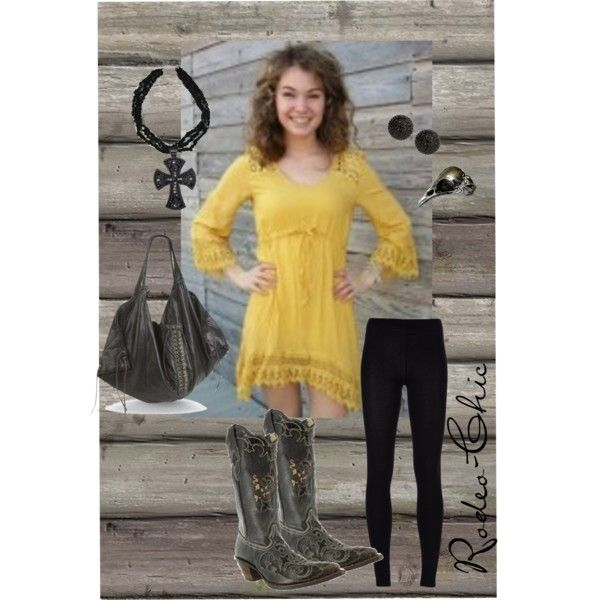 yellow dress bron boots 666