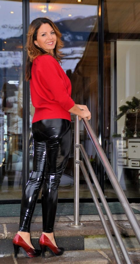 Join Mature leather pants heels excellent