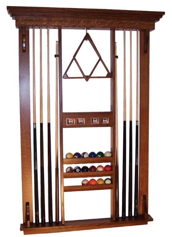 Amish Hardwood Deluxe Wall Rack
