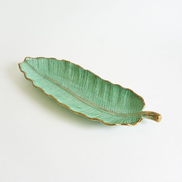 New arrival in the shop • #midcentury #californiapottery large #ceramic #leaftray.  Pristine condition.