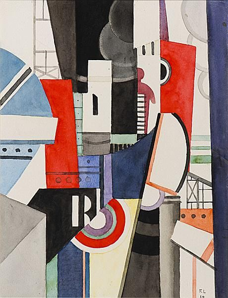 "Esquisse pour ""La Ville"" (Sketch for ""The City""): 1919 by Fernand Leger - Viewed as part of the Exhibit: The Great War: Art on the Front Line (Toledo Museum of Art, Toledo, OH) (August, 2014)"