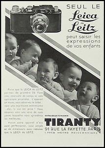 Publicité du premier distributeur de Leica en France
