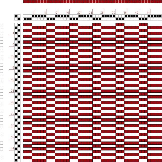 draft image: Figure 38, A Manual of Weave Construction, Ivo Kastanek, 2S, 2T