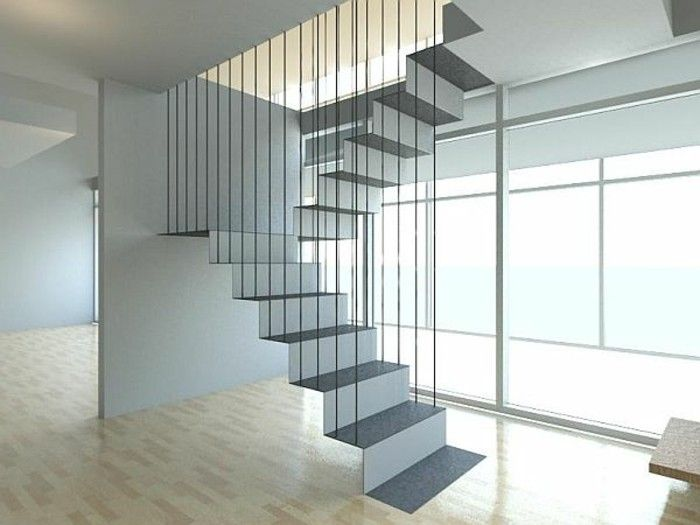 les 25 meilleures id es de la cat gorie escalier suspendu sur pinterest rampe escalier inox. Black Bedroom Furniture Sets. Home Design Ideas