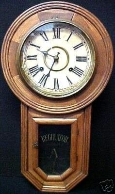 OLD ANSONIA NEW YORK REGULATOR WALL CLOCK WOOD CASE Fresh From a Fabulous South Florida Estate! No Reserve, Ever! Old Ansonia New York Regulator Wall Clock ~ Wood Case. Visually pleasing form. Wood c