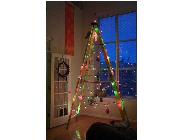 Ladder Christmas Tree-Worst Christmas Decorations Ever