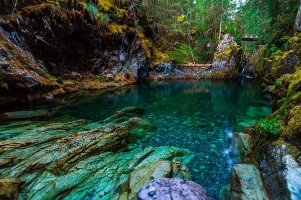 The impossibly blue Opal Pool, deep in Oregon's Opal Creek Wilderness