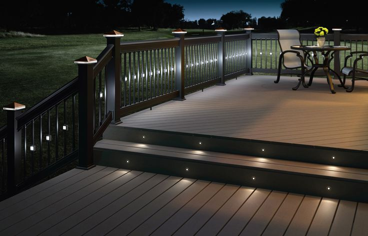Outdoor Recessed Lighting Deck