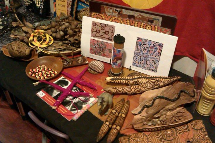 Aboriginal art display - Natural Inspired Environments ≈≈ties in with Reggio too!