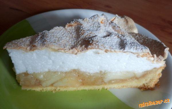 Jablkový koláč se sněhem
