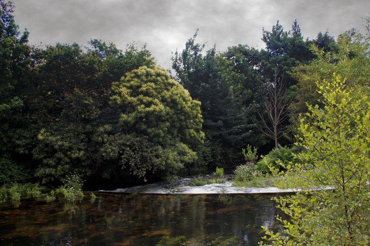Rio Eume en Los Puentes de Garcia Rodriguez, Galicia, España.