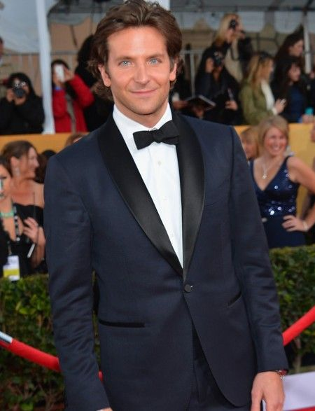 Buy Bradley Cooper Midnight Blue Tuxedo Now! Bradley Cooper Red Carpet Navy Dinner Suit ON SALE with Perfect Fit Guarantee and Free Shipping Offer.