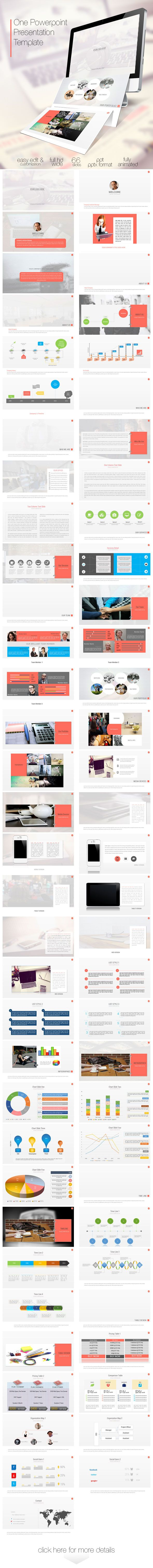 One Power Point Presentation Template (Powerpoint Templates) preview image