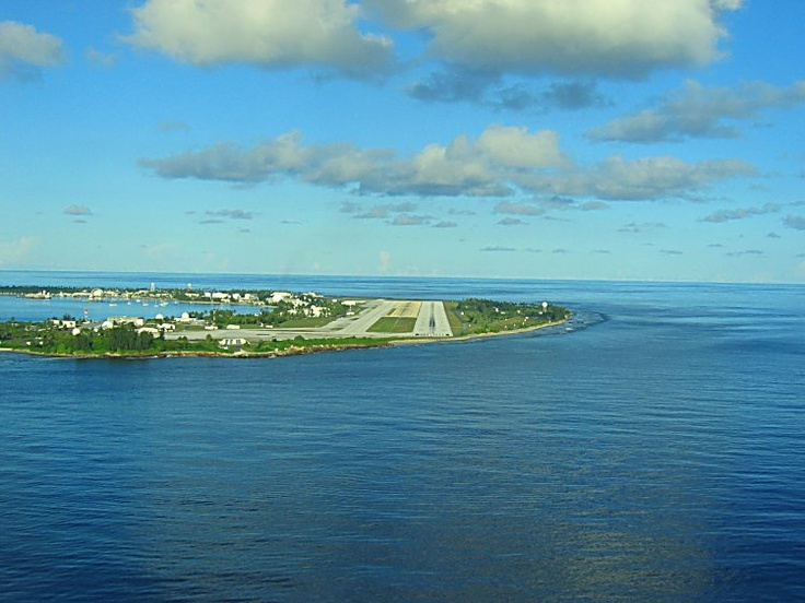 Kwajalein, Marshall Islands...a different view    This is where I learned to FLY!  (And land!)