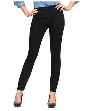 slim fit, dark wash (Gap 1969 Curvy Skinny Black Jeans)