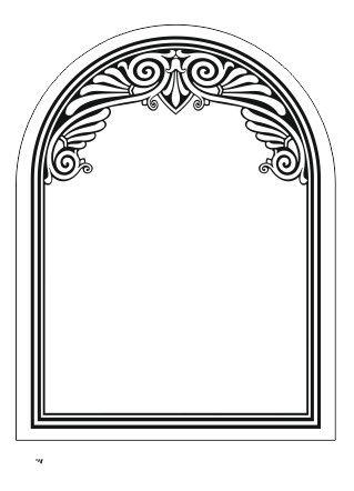 Пескоструйный рисунок для зеркал в векторе