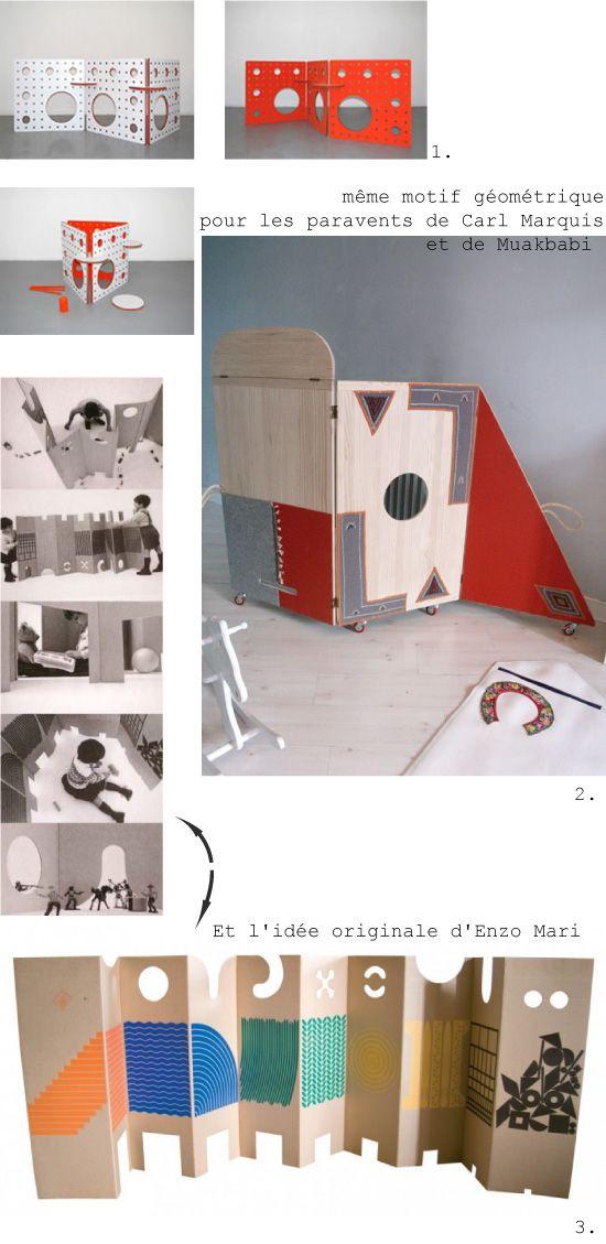 Paravent de jeux Enzo Mari, réédité par Corraini chez BALOUGA