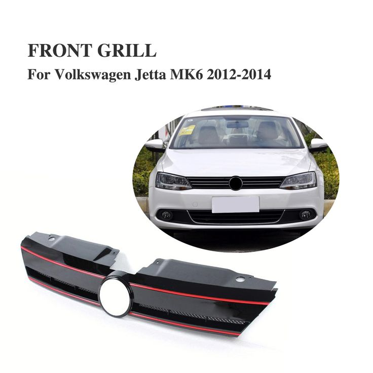 ==> [Free Shipping] Buy Best ABS Front Mesh Grills Chrome Line Grille with For HYBRID For Volkswagen VW Jetta MK6 2012-2014 Online with LOWEST Price | 32813137465