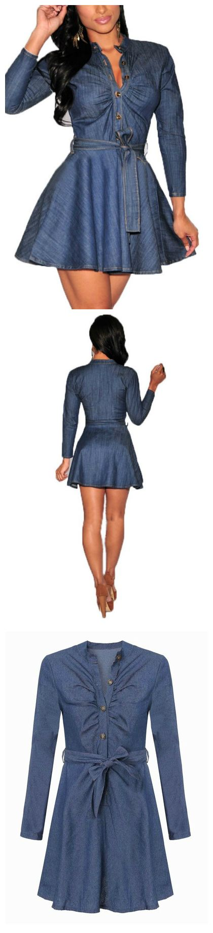 Denim dresses gives you the smart yet classy look.