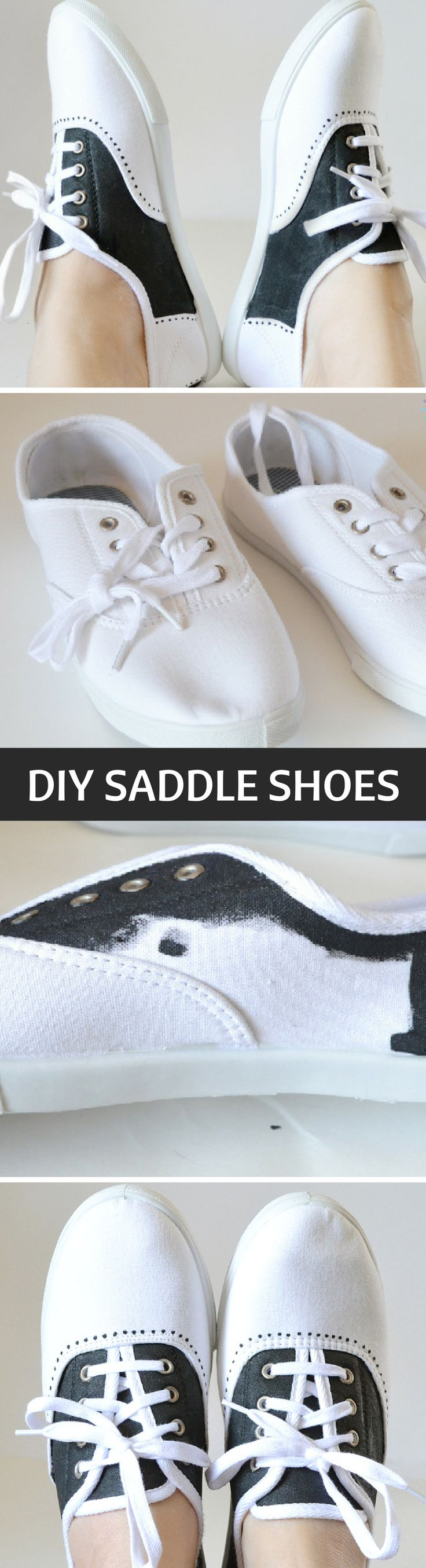 Shoe Makover: Painted Faux Saddle Shoes Tutorial